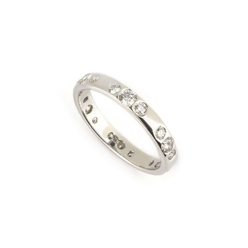 18k White Gold Diamond Band 0.91ct H/VS1